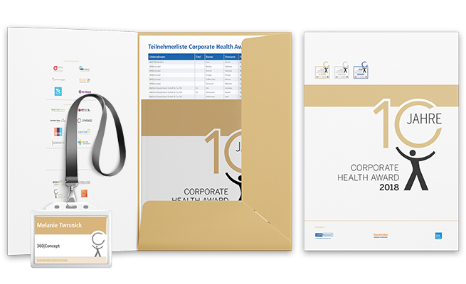 Corporate Health Award Referenz Mappe & Badge