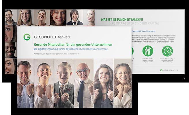 GesundheitTANKEN Referenz Broschüre