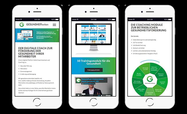 GesundheitTANKEN Referenz Website