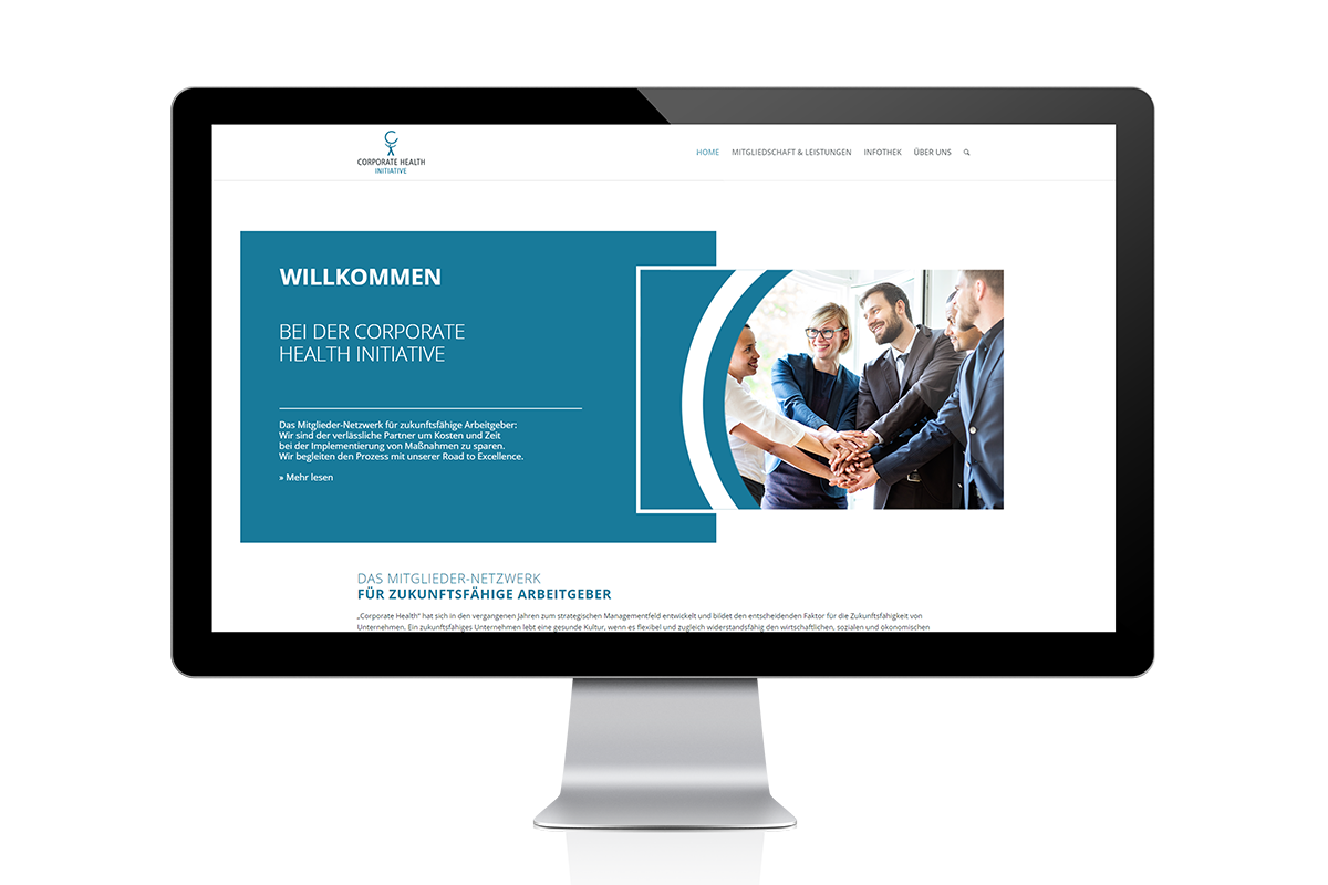 Corporate Health Initivative Referenz Website