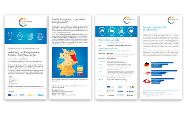 Energiewende Award Referenz Flyer
