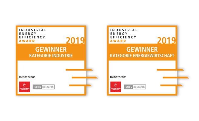 Hannover Messe Industrial Energy Efficiency Award Referenz Siegel