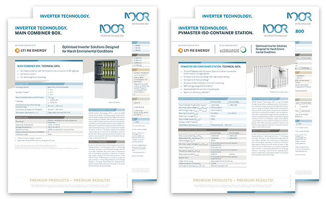 Noor Energy Group Referenz Datasheets