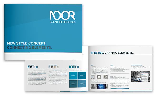 Noor Energy Group Referenz Corporate Design Guidebook