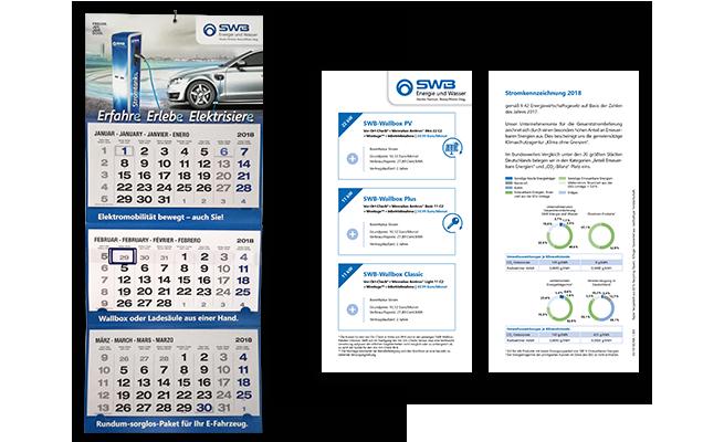 Stadtwerke Bonn E-Mobilität Referenz Einleger & Wandkalender