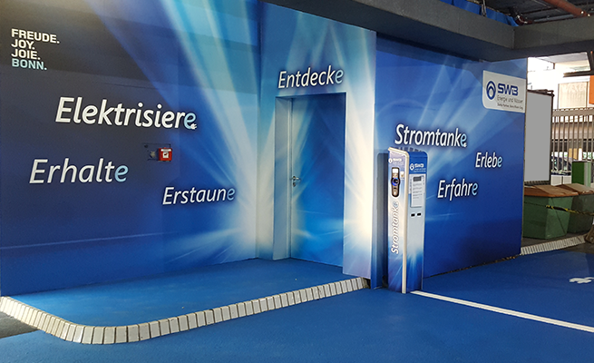 Stadtwerke Bonn E-Mobilität Referenz Parkgarage