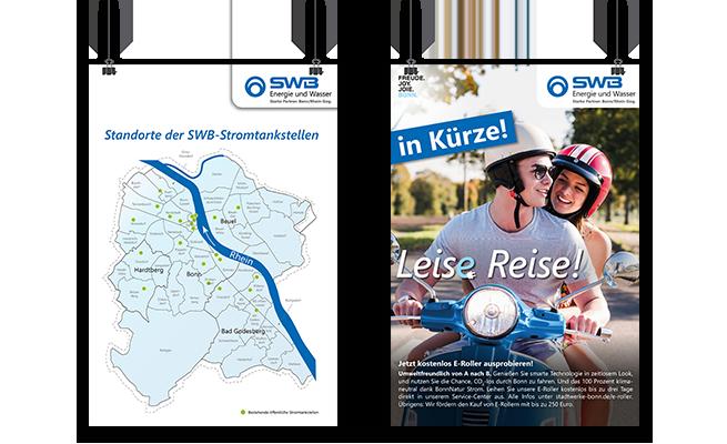 Stadtwerke Bonn E-Mobilität Referenz Plakate