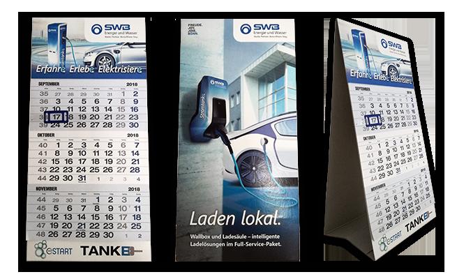 Stadtwerke Bonn E-Mobilität Referenz Tischkalender