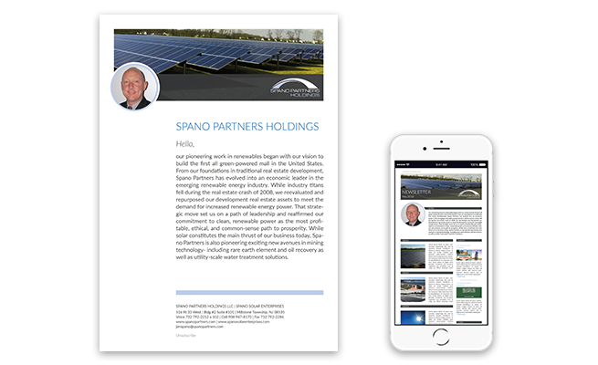 Spano Partners Holdings Referenz Mailing & Newsletter